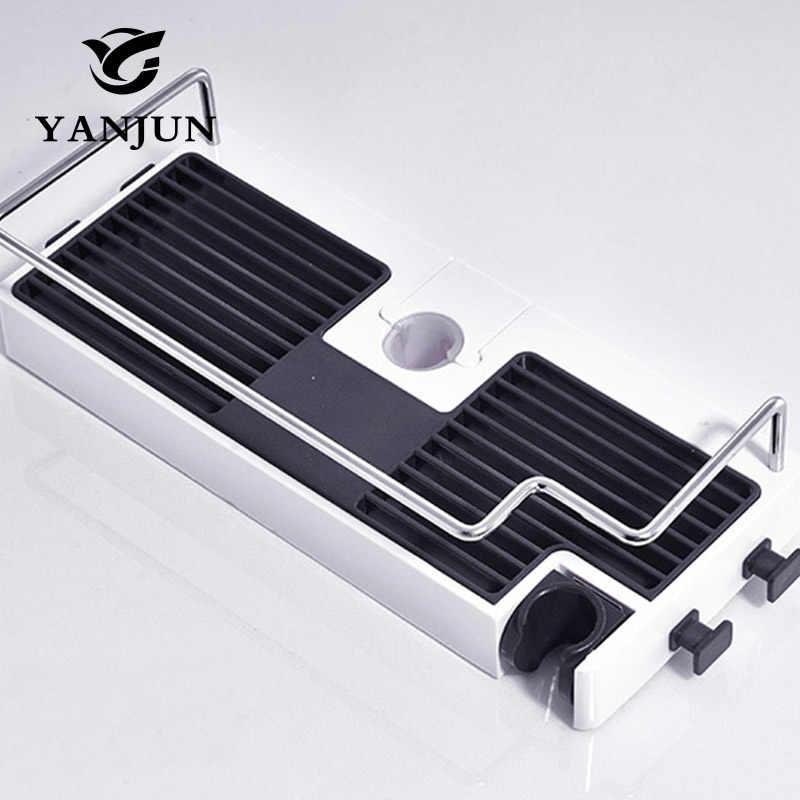 Yanjun Enkele Tier Douchekop Houder Badkamer Plank Douche Storage Rack Holder YJ-8530