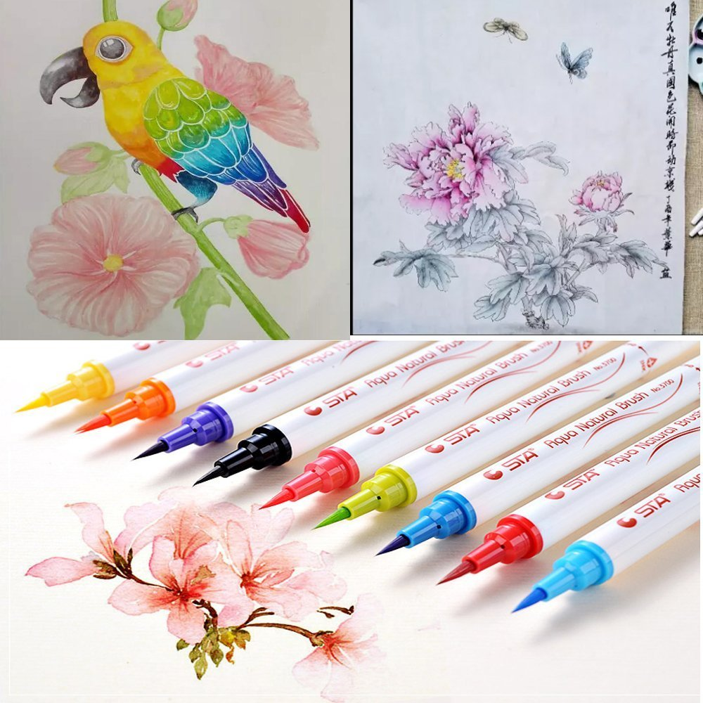 Painting art Marker Pen student school Stationery Supplies art supplier water color Soft Brush pen free shipping creative lovely stationery color neutral pen sets 0 38mm 12 color painting copic marker pen papelaria stabilo 010