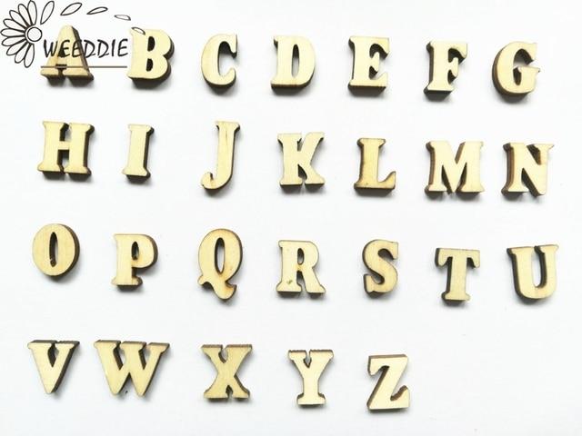 200 Pcs Mixte Az Lettre Alphabet Naturel En Bois Lettres Nombre