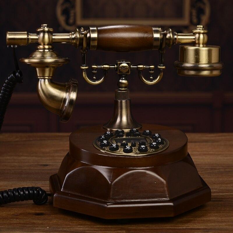 Специальное предложение изысканные Европейские антикварные ретро Технологии Древесины Сад телефон