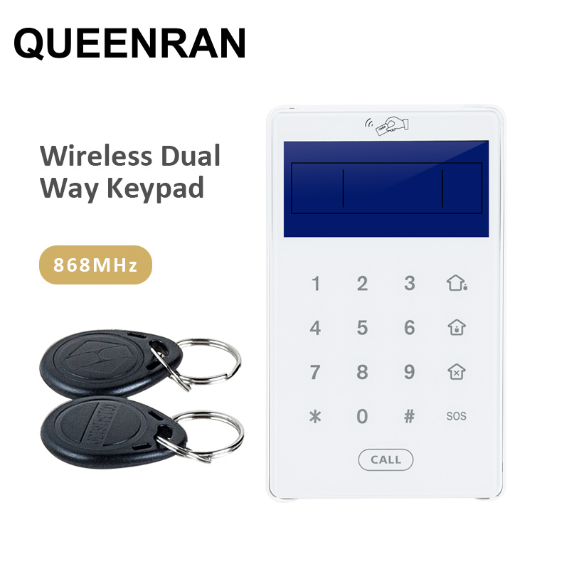PB 503R Wireless Touch Keypad Dual Way Keypad with RFID Tags Reader For Intruder Alarm System