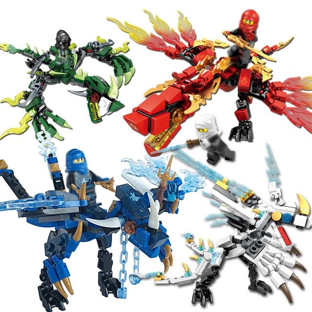 Ninjagoes Dragão Building Block COLE JAY KAI ZANE WU NYA Lloyd GARMADON Brinquedos Ninja Compatível Com Legoingly NinjagoING