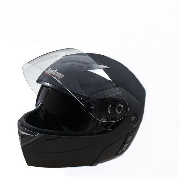 JIEKAI lentes duplas JK111 undrape rosto capacete da motocicleta abrir  rosto moto de ABS capacetes Four Seasons Geral têm 3 cores 3a9ad3394b