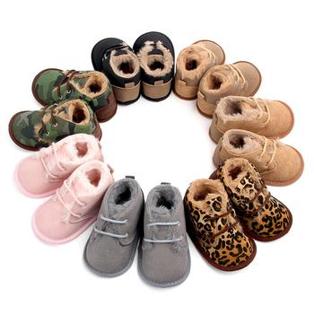 2020 dziewczynek chłopców zimowe buty trzymające ciepło buciki trampki dziecięce szopka niemowlę maluch obuwie buty noworodki Prewalkers tanie i dobre opinie MUPLY Cotton Fabric Płytkie Wiosna jesień Lace-up Drukuj Dla dzieci Unisex Pierwsze spacerowiczów Korka Pasuje prawda na wymiar weź swój normalny rozmiar