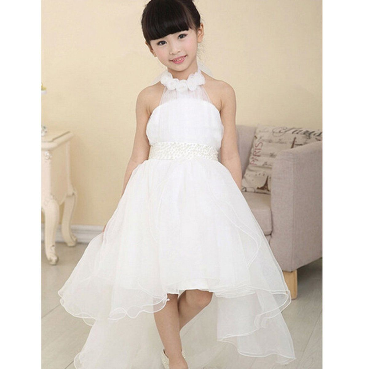 2017 Flower Baby Girl Princess Kid Dress Toddler Formal ...