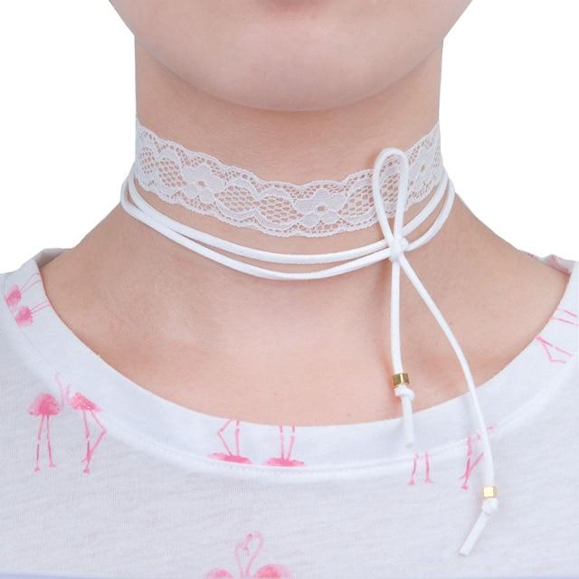 collier ras de cou elastique
