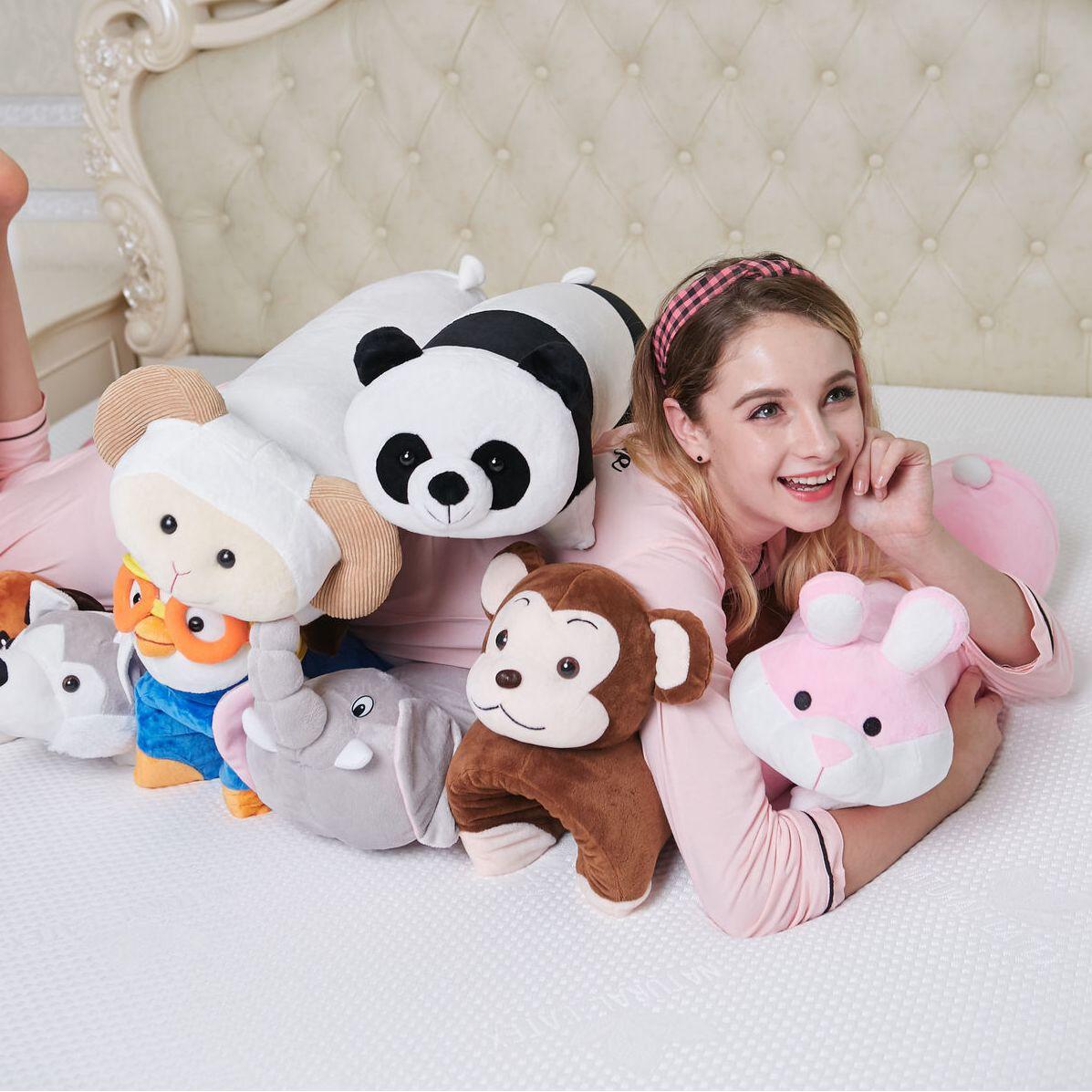 Latex Pillow Cervical Supporting Children's Cartoon Orthopedic Latex Neck Pillow Fiber Inflatable Bamboo Pillow Almohada Viaje