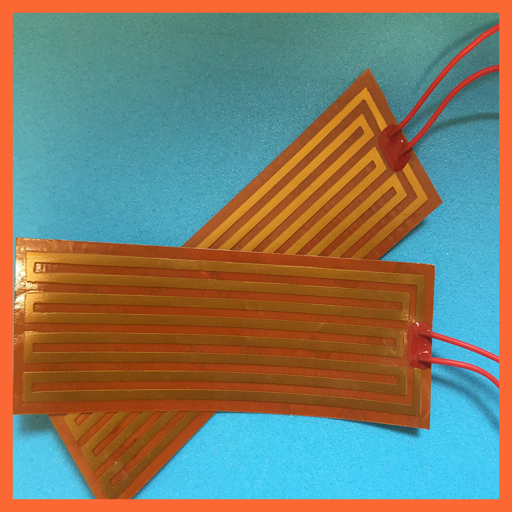 10x50mm 24V 15W electrothermal heating polyimide membrane PI electrothermal film heating oil pan heating film heating plate