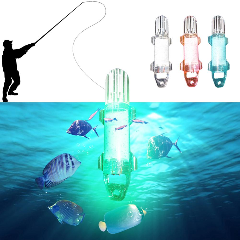 Deep Sea Night Fishing Supplies LED Underwater Light Lamp Lure Bait for Quickly Gathering Attracting Fish Random Colors Delivery