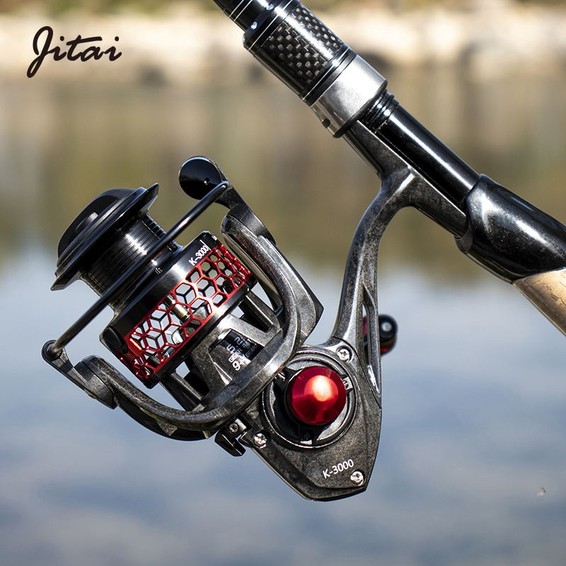 JITAI Carbon Fiber Ultralight Fishing Spinning Reel Metal Wire Cup Ourdoor Left Right Reel Olta Makaralar Carretilha Coils Wheel