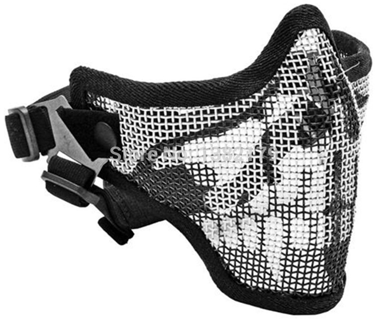airsoft masks coloring pages | Tactical Hunting Mask Metal Steel Wire Half Face Mesh ...