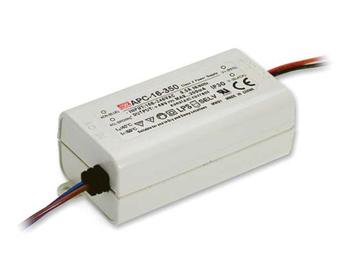10Piece  Meanwell APC-16-350 LED Power Supply 16.8W 12~48V 350mA constant current mean well LED driver IP42 APC-16