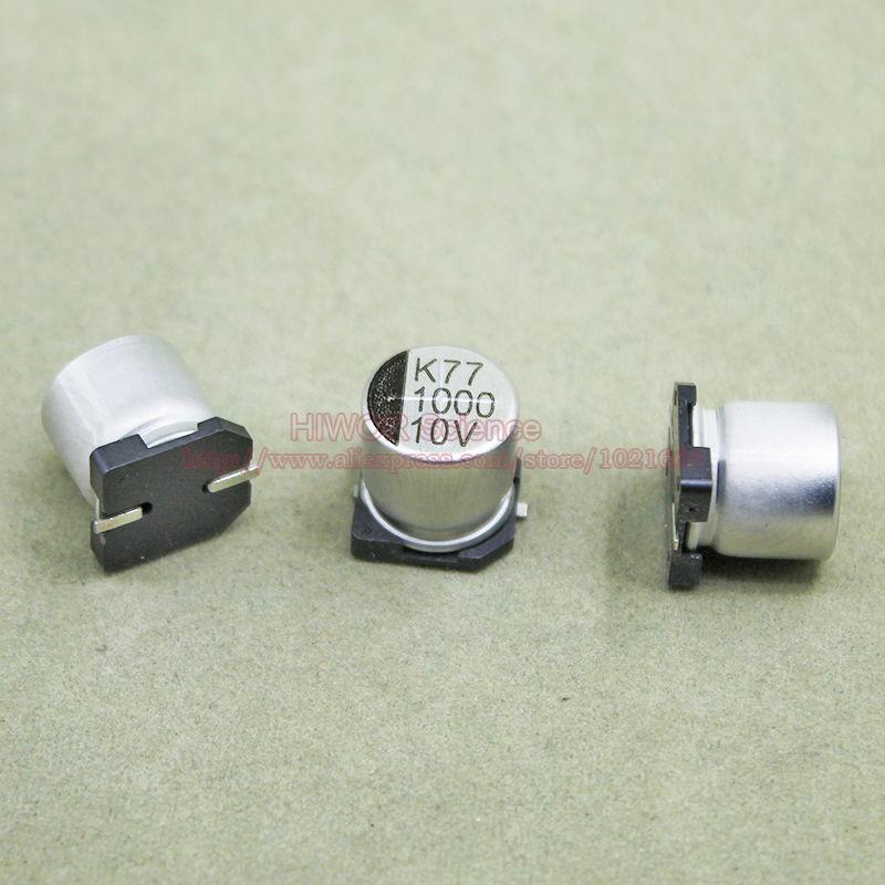 25pcs Lot 1000uf 10v Smd Aluminum Electrolytic Capacitor Size