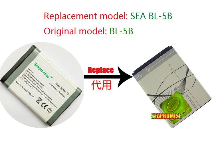 retail battery BL-5B BL 5B BL5B for nokia 3220 3230 5000 5070 5200 5208 5300 6060 6070 6080 6120 7360 n80 n90(Hong Kong,China)
