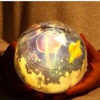 Nuevo Planeta mágico proyector LED colorido que gira noche luz intermitente starry espacio Luna tierra proyector lámpara niño regalo de Navidad