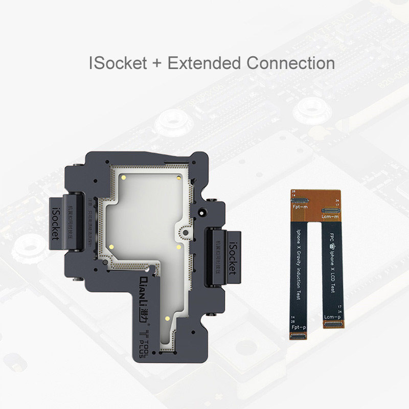 QIANLI iSocket for iPhone x xs / xs max motherboard test fixture For IPHONEX double-deck motherboard Function Tester