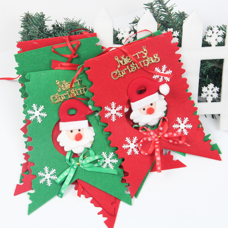 Wholesale 2015 new year merry christmas flag for New home christmas decoration