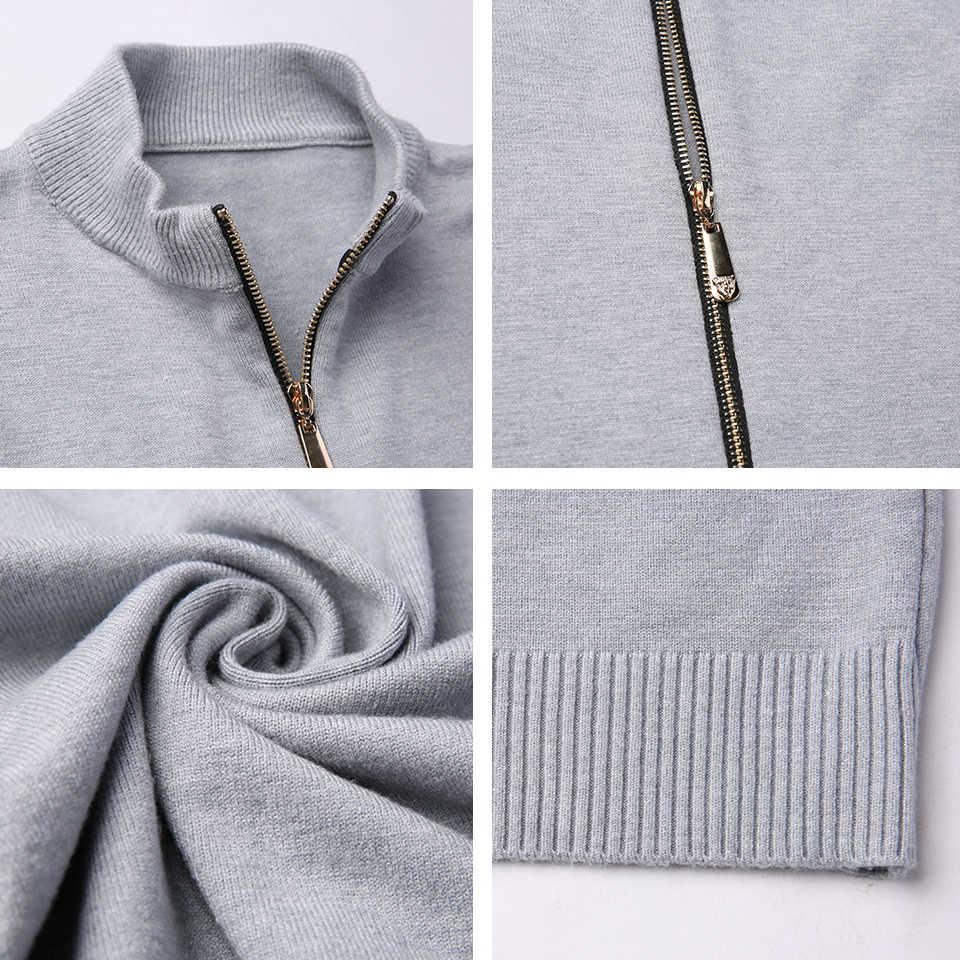 Мужские 2018 осенние брендовые Новые повседневные шерсть; ЖАККАРД мужской свитер-Кардиган зимние модные теплые мягкие трикотажные изделия пальто свитер мужские плюс