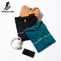 Pioneer Camp New Men Hoodies Sweatshirt Brand Clothing Simple Letter Hooded Sweatshirt Male Top Quality Tracksuit