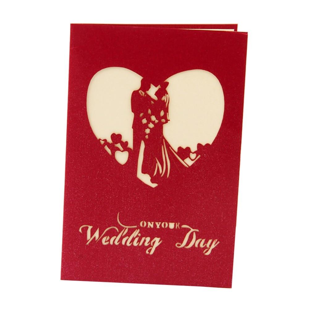 3D Laser cut Paper Wedding Invitation Greeting Pop Up Kirigami Card ...