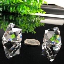 2 шт. подвесной светильник с кристаллами в виде призмы, люстра, конусная подвеска, украшение для окна, стеклянная призма