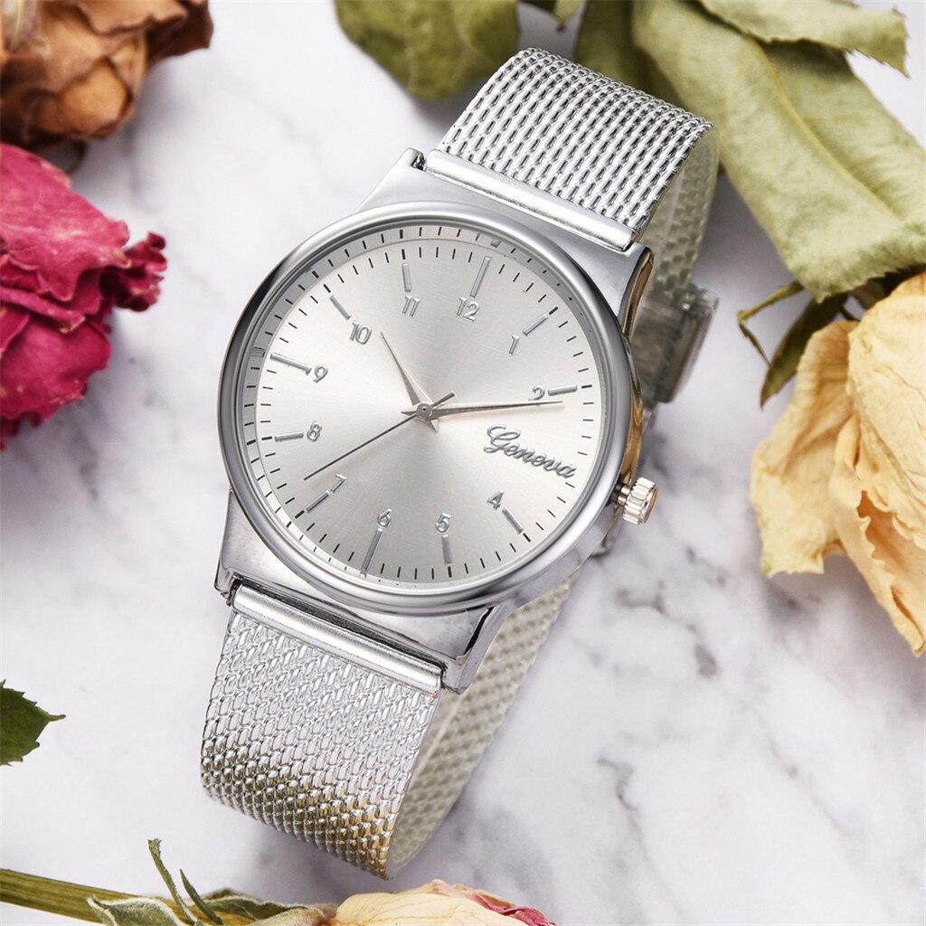 women watches top brand luxury Temperament Fashion Mesh Belt Ladies and Men's Gift Quartz Watch Relogio Feminino