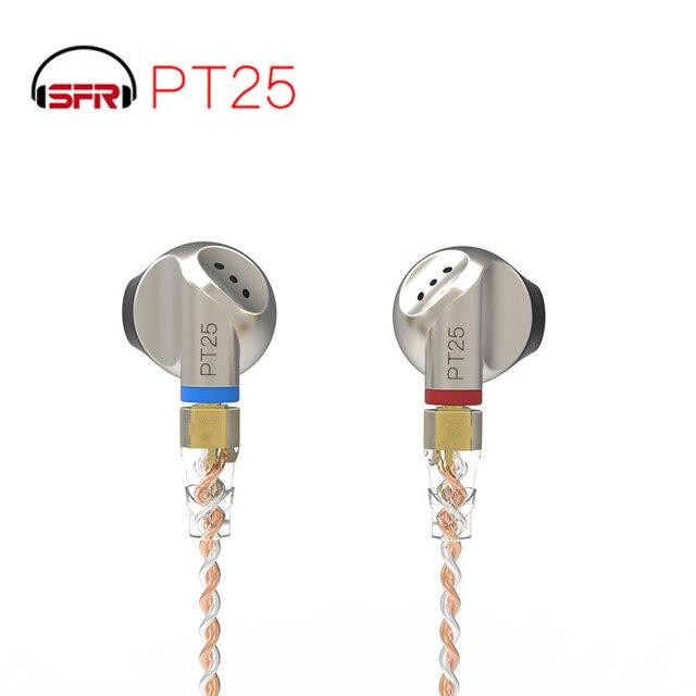 SENFER PT25 dans loreille type de bouchon doreille casque fièvre fiche plate unité HIFI graphène avec câble MMCX remplaçable PT15 DT6 ZSN DT8 IM1 T2