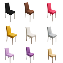 Solid Color Chair Covers Spandex Stretch Party Cover Dining Seat Modern Wedding Slipcover for Banquet