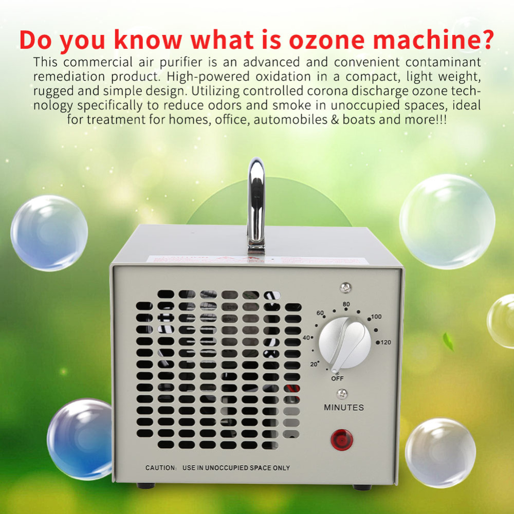 55W Odor Smoke Ozone Air Purifier Cleaner Generator Sterilization Clean Air Home Office Deodorizer Sterilizer Antiperspirant commercial 3500mg h ozone generator air purifier machine odor smoke industrial