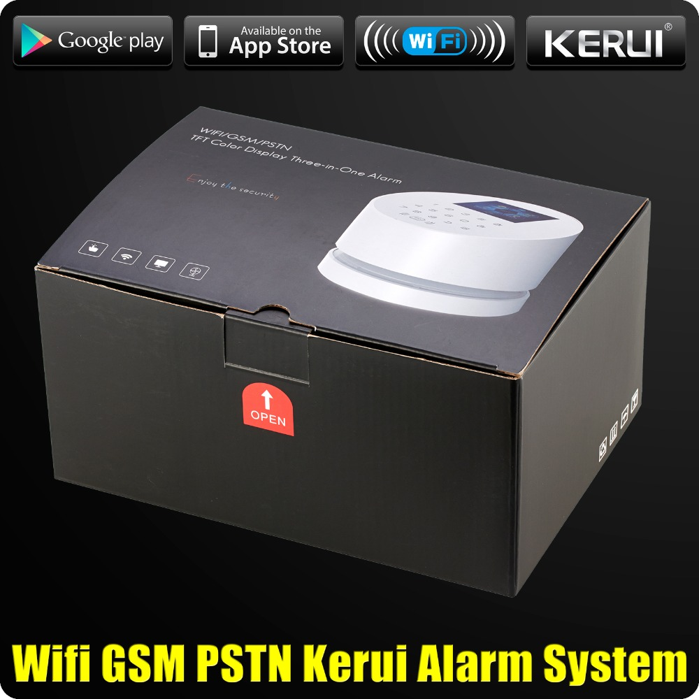 Image 5 - Wholesales KERUI W2 Wifi GSM PSTN Telephone Landline Home Alarm APP ISO 433MHz TFT Golor Screen RFID Disarm Arm Security Kit-in Alarm System Kits from Security & Protection
