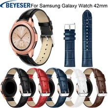 Sport Leather Strap band For Samsung Galaxy Watch 42mm Band Replacement Bracelet Watchband