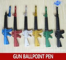 30 pçs/lote arma de brinquedo Criativo caneta esferográfica como estacionário escola, submetralhadora arma projeto caneta esferográfica para crianças