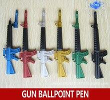 30 개/몫 크리 에이 티브 장난감 총 볼펜 학교 고정, submachine 총 디자인 볼 포인트 펜 어린이위한