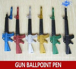 Image 1 - 30 teile/los Kreative spielzeugpistole kugelschreiber als schule stationären, maschinenpistole design kugelschreiber für kinder