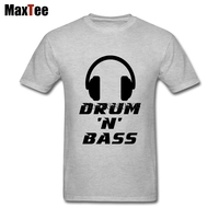 Drum N Bass Music Tee Shirt Men Tailored Short Sleeve Cotton Custom Big Size Family Tshirt
