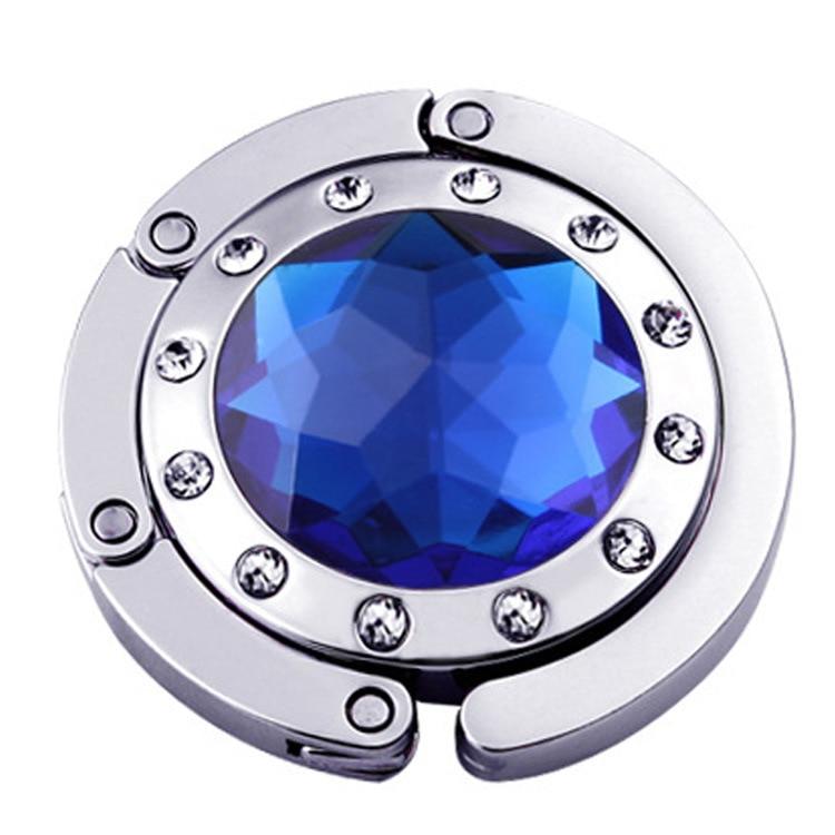 卸売Fetoo 22色の女の子カラフルなダイヤモンドポータブル折りたたみハングバッグフック装飾ハンドバッグテーブルフック財布デスクハンガー