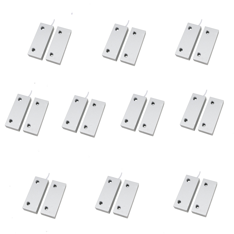 10Pair Wire MC52 Wired Rolling Magnetic Contact Reed Gate Door Switch Home font b Alarm b