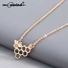 Fashion Honeycomb Bee Animal Hanger Ketting Dier Statement ketting Kettingen voor Vrouwen Meisje Choker Ketting Sieraden Prom Gift(China)