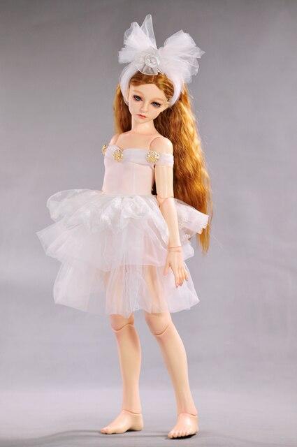 BJD doll accessories doll clothes 55-60cm 1 / 3BJD White Swan skirts + head flower