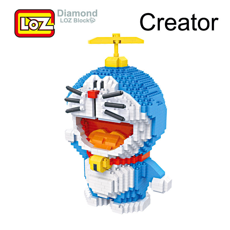 LOZ Doraemon Coin Piggy Bank Building Blocks Primitive Man Action Figure Toy Figures Anime Giant Block Toys for Children no face male piggy bank hiccup sound money coin storage container bins kids toys funny gadgets anime action figure 3 styles