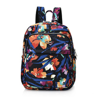New Waterproof Nylon Backpacks For Teenage Girls Fashion Flowers Printing Backpack Women Mochila Casual School Bag