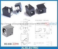 200pcs AC 5.5mm x 2.0mm DC Power Jack Port Socket for Notebook Computer DC 036