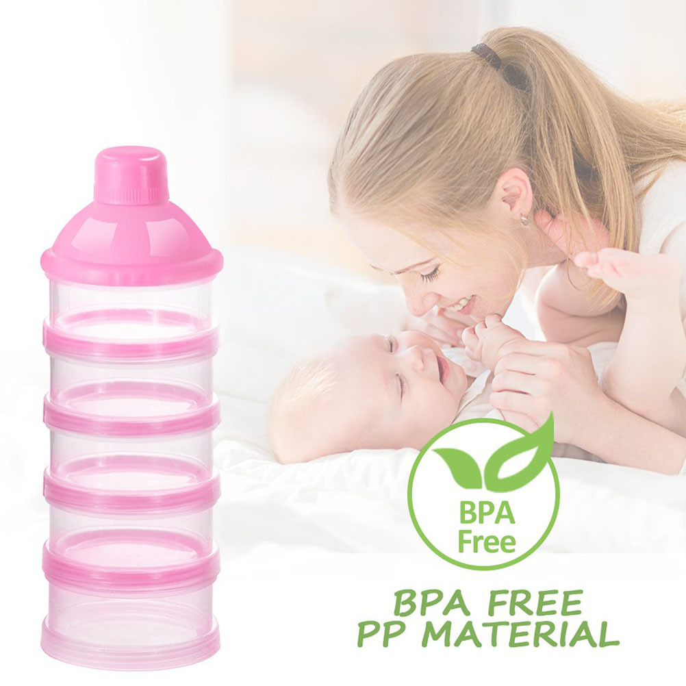 Baby Kids 5 Grids Milk Powder Container Portable Formula Dispenser Newborn Baby Food Container Infant Feeding Storage Box