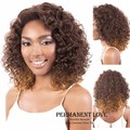 Ombre афро кудрявый курчавый парик для чернокожих женщин афро-американского Жаропрочного Синтетического длинные Каштановые корни светлые волосы парики Плутон