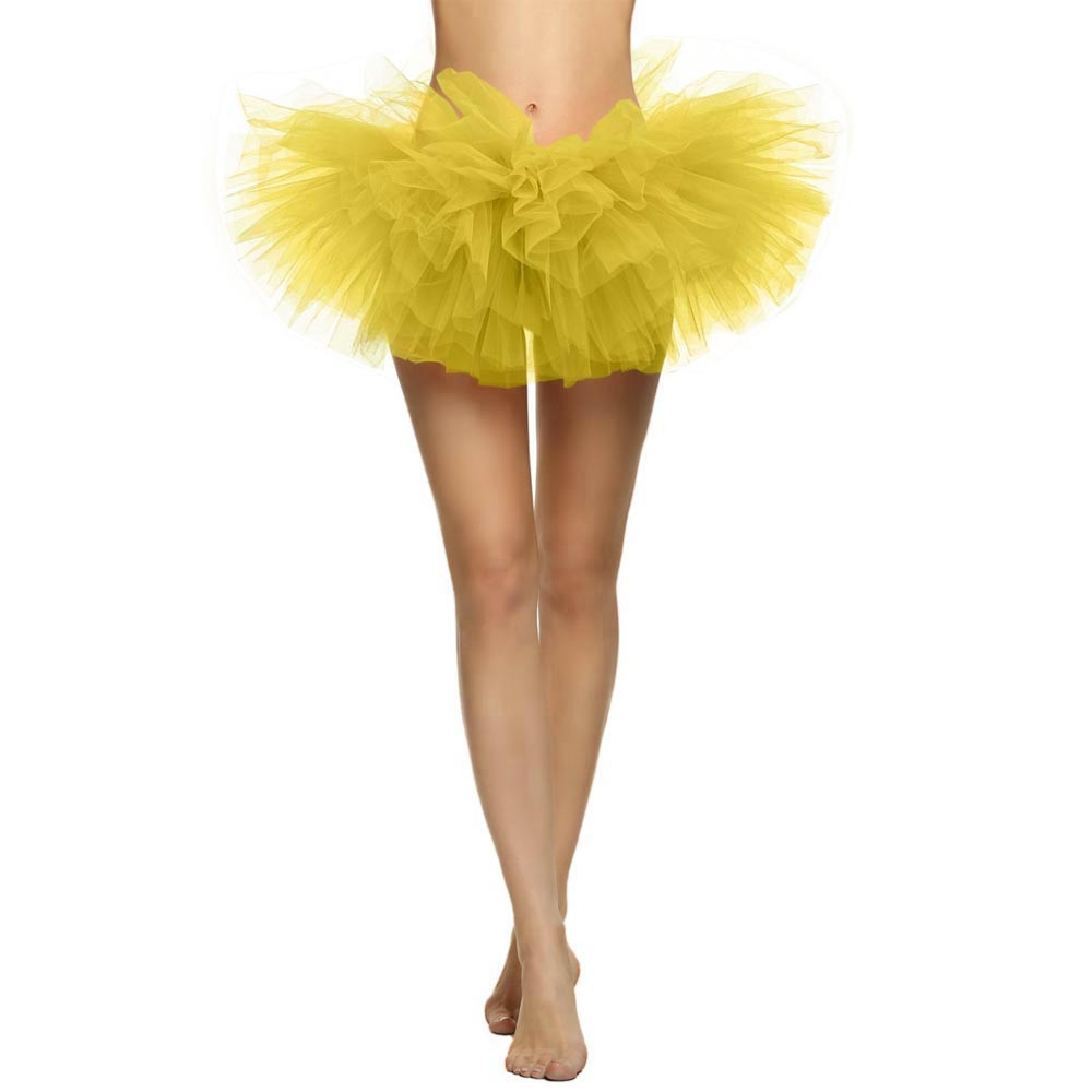 2019 MAXIORILL NEW Hot Sexy Fashion Pretty Girl Elastic Stretchy Tulle Adult Tutu 5 Layer Skirt Wholesale T4 85