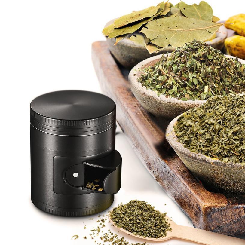 66MM Grinder Weed 4-layer Aluminum Hand Crank Herbal Herb Tos