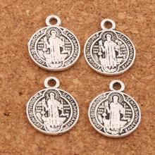 ФОТО 400pcs      14.7x11.7mm antique silver saint benedict medal cross smqlivb spacer beads pendants alloy handmade jewelry diy l1691