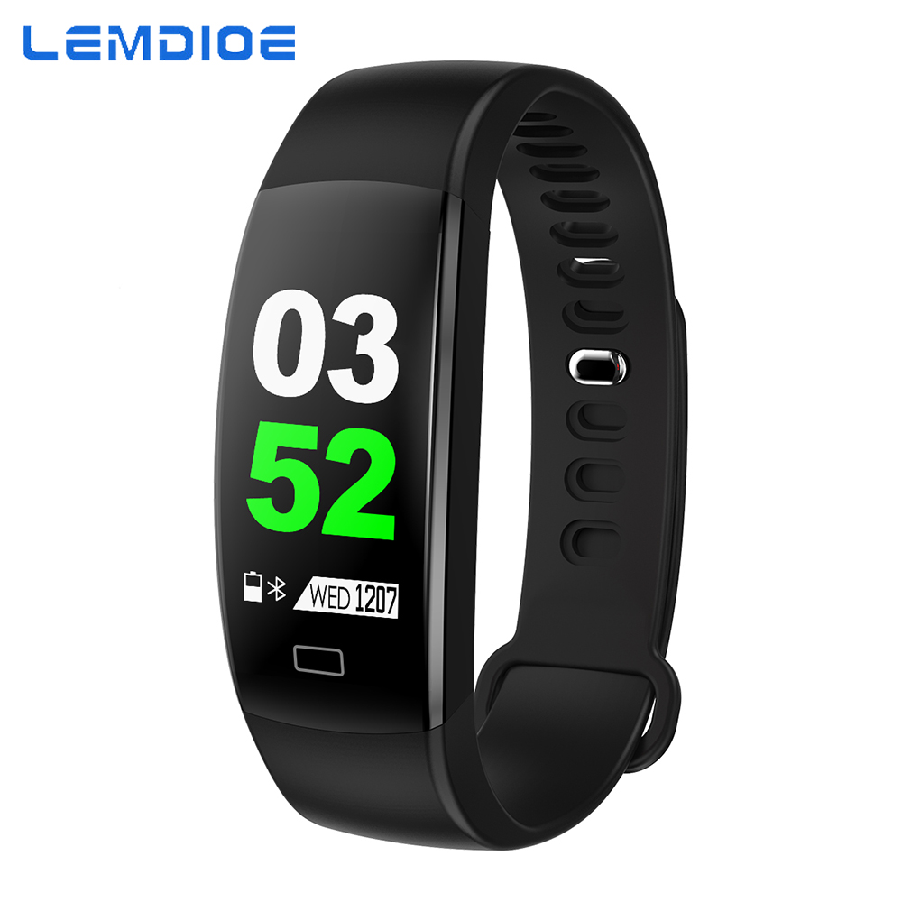 LEMDIOE Smart Band Sports Fitness Activity Heart Rate Tracker Blood Pressure IP67 Waterproof Pedometer  Smart Watch IOS Android