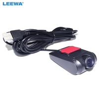 Leewa 5 компл. ультра тонкий HD Автомобильный USB на передней панели цифрового видео Регистраторы DVR Камера для автомобиля Android 4.2/4.4 /5.1/6.0 навигато