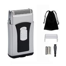 TONGTLETECH моющаяся Мини электрическая бритва для мужчин Journey's Edge Влажная/сухая микро бритва с щеткой для чистки